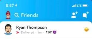First Longest Snapchat Streak