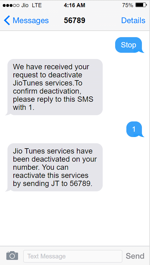 how to remove jio tune
